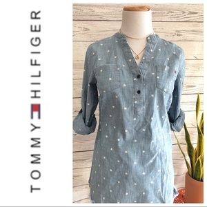 ❤️✨💙Tommy Hilfiger Star Print Chambray Top💙✨❤️